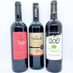 Vin rouge (sélection sans sulfites)